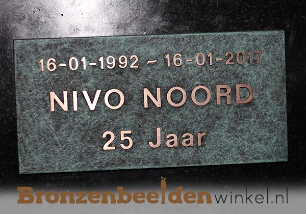 Bronzen plaquette laten maken