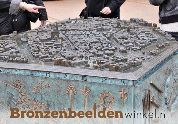 Bronzen maquette, maquette stad