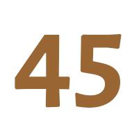 Verjaardagscadeau 45 jaar