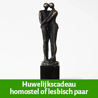 65 jarig huwelijkscadeau voor homostel of lesbisch paar