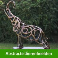 abstracte dierenbeelden