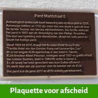 Bronzen plaquette ter afscheid