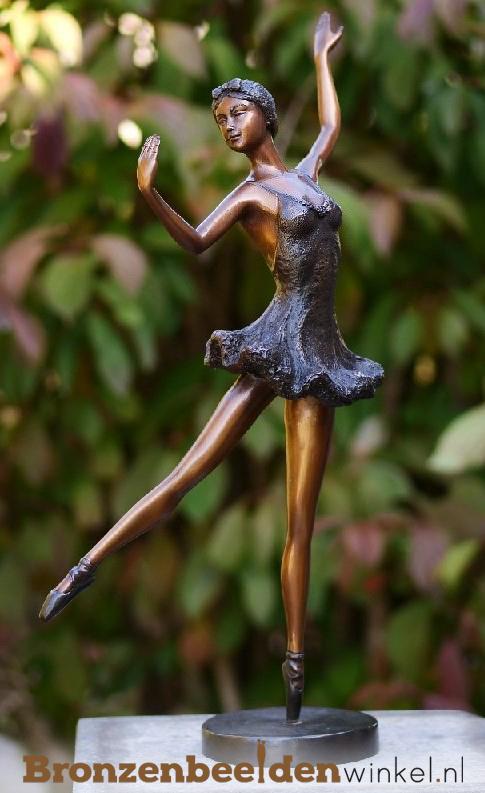 ballerina beeld brons, bronzen ballerina beeld