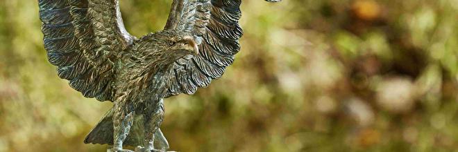roofvogel beelden, bronzen roofvogel