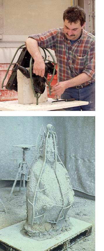 hoe wordt een bronzen beeld gemaakt