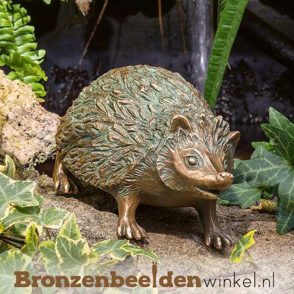 bronzen egels, egel beelden, beeld egel