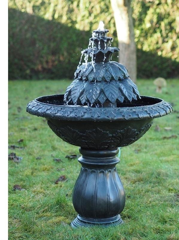 bronzen fontein, fontein tuin, fontein beeld