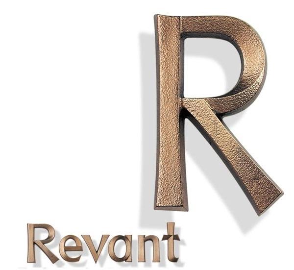 bronzen letters, letters van brons