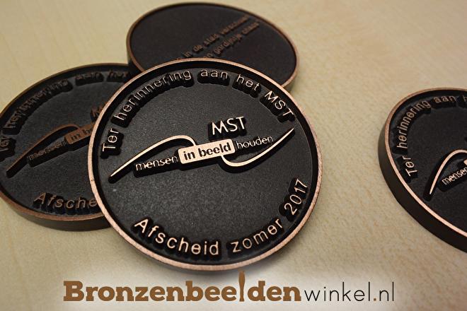 bronzen munt laten maken