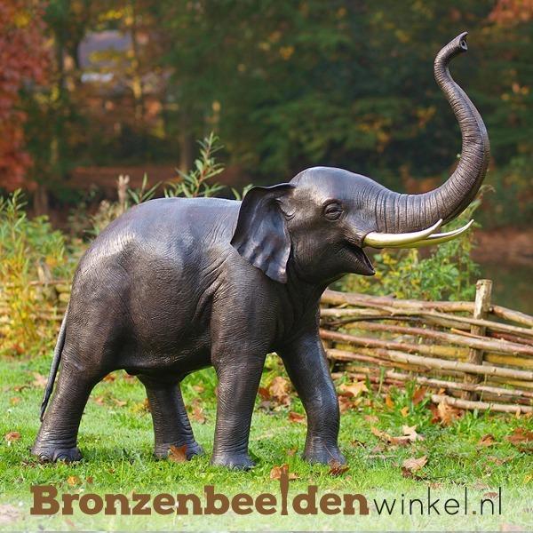 Bronzen olifant, beeld olifant