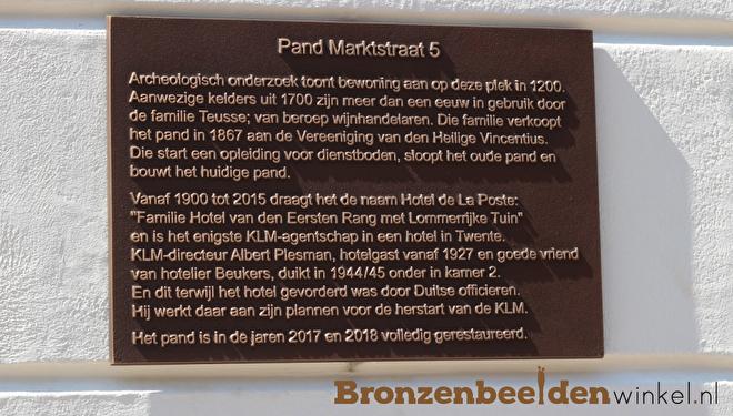 bronzen plaquette, plaquette brons
