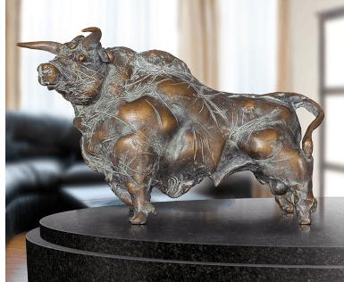bronzen stier, bronzen beeld stier