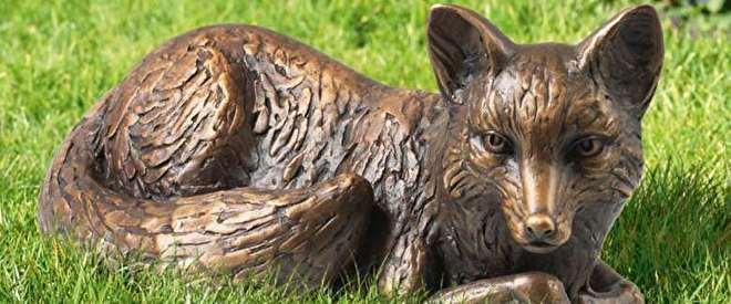 bronzen vos, vos beeld, beeld vos