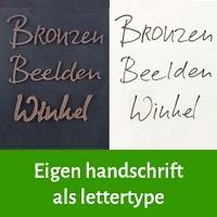 eigen handschrift als lettertype