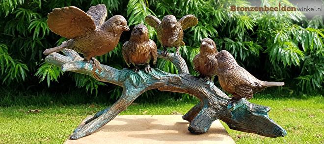 bronzen vogeltjes, kleine vogel beeldjes