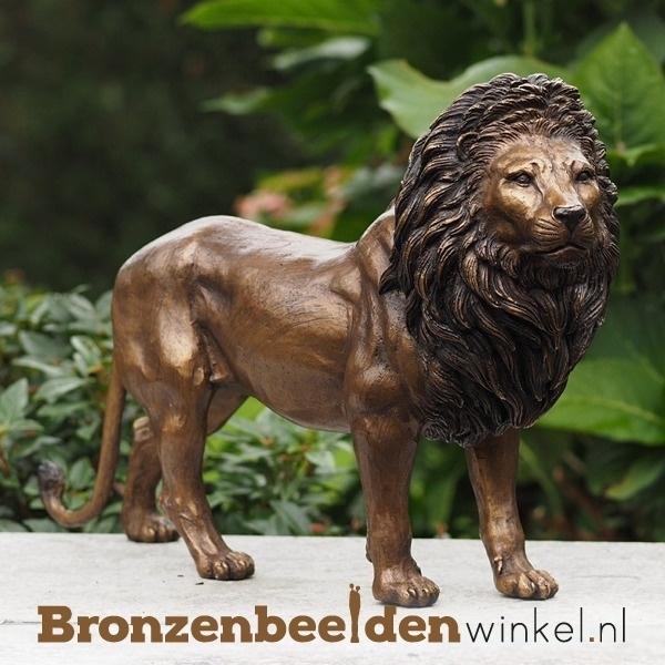 beeld leeuw, bronzen leeuw