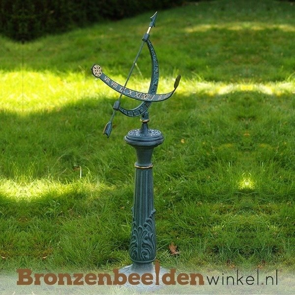 zonnewijzer brons, bronzen zonnewijzer