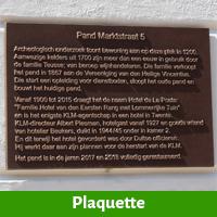 Bronzen plaquette ter ere van een jubileum