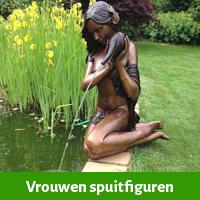 Spuitfiguur vrouw als fontein