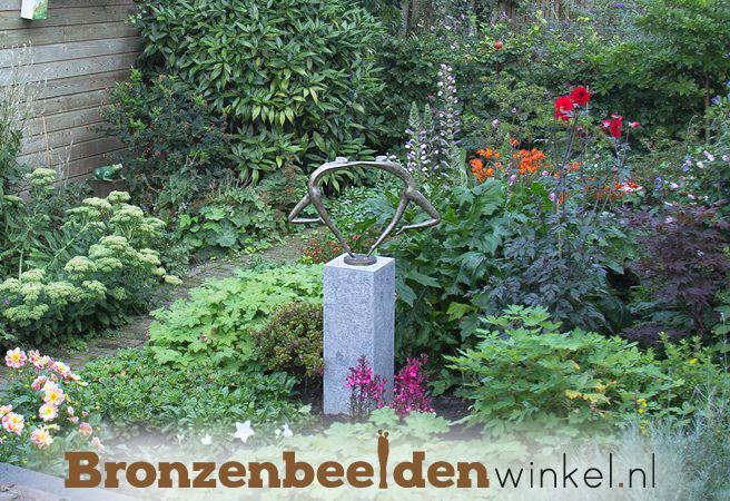 tuin beeld brons