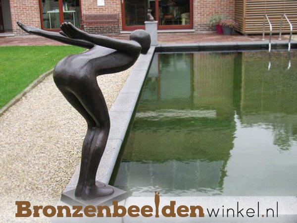tuinbeeld de duiker, beeld zwembad