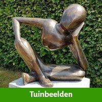 Prachtig tuinbeeld als origineel 75 jaar vrouw cadeau