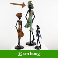 Afrikaanse beelden 35 cm hoog