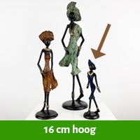 Afrikaanse beeldjes 16 cm hoog