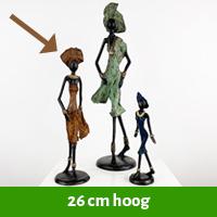 Afrikaanse beelden 26 cm hoog
