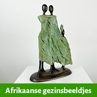 Afrikaanse gezin beeldjes