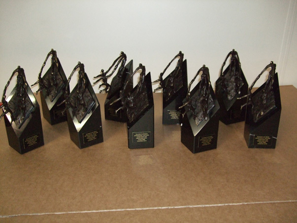 Kleine beeldjes brons Rotterdam