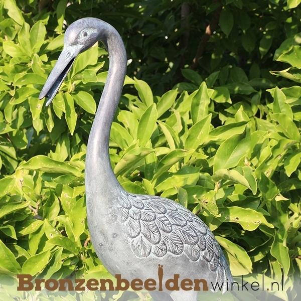 Bronzen kraanvogel, beeld kraanvogel