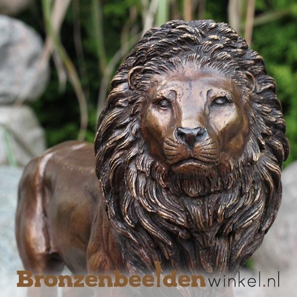 Bronzen leeuw, tuinbeeld leeuw