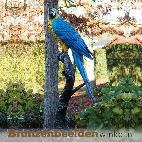 bronzen papegaai beeld, papegaaien beelden