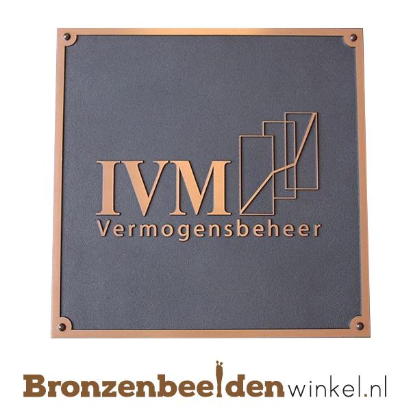 bronzen plaat