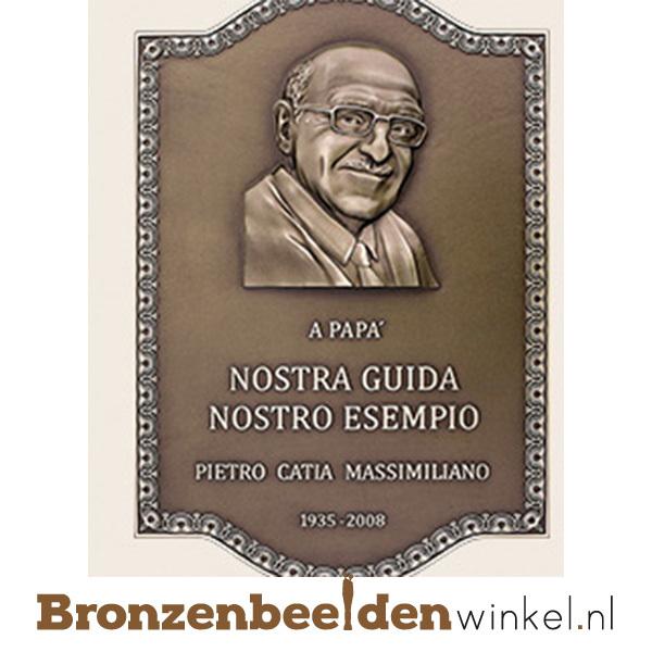 bronzen portret plaquette