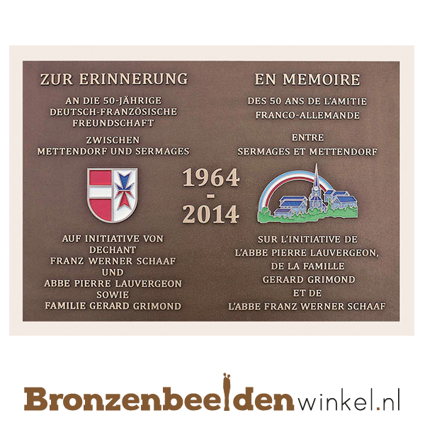 bronzen plaquette