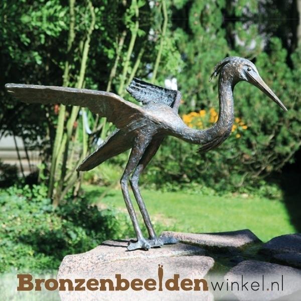 Bronzen reigers, beeld reiger