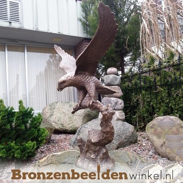 roofvogel beeld, tuinbeeld roofvogel