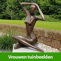 vrouwenbeelden tuin, tuin vrouw