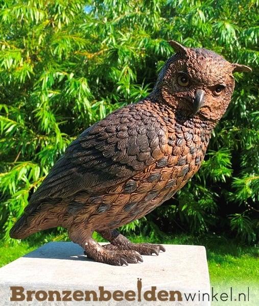 Bronzen uilen, beeld uil, uilen beelden