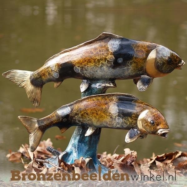 Bronzen vis, beeld vis
