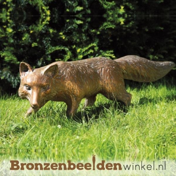 bronzen vos, beeld vos
