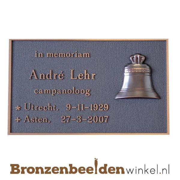 gedenk plaat brons