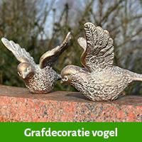 Grafdecoratie vogel | vogel voor grafsteen