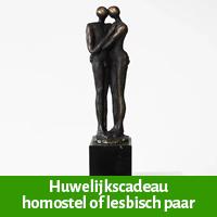 bruidspaar huwelijkscadeau homostel, lesbisch paar