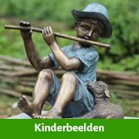 kinderbeeld sculptuur tuin