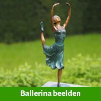Ballerina beeldje als 75 jarig verjaardagscadeau vrouw