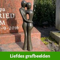 Liefdes beelden vor graf