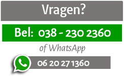 Bel ons of neemt contact op via WhatsApp